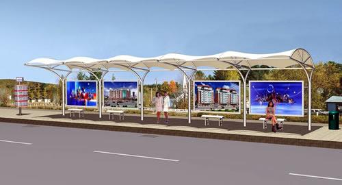 公交站台06膜结构